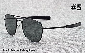 Aprigy Fashion Army Military AO Pilot - Gafas de sol de cristal óptico americano de 54 mm