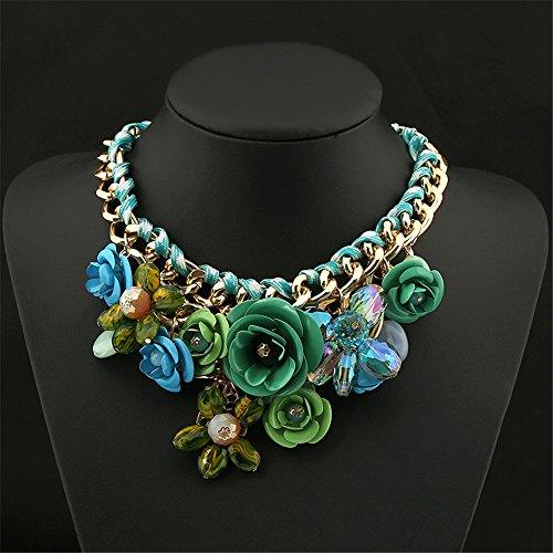 Flower Collar Necklace - 8