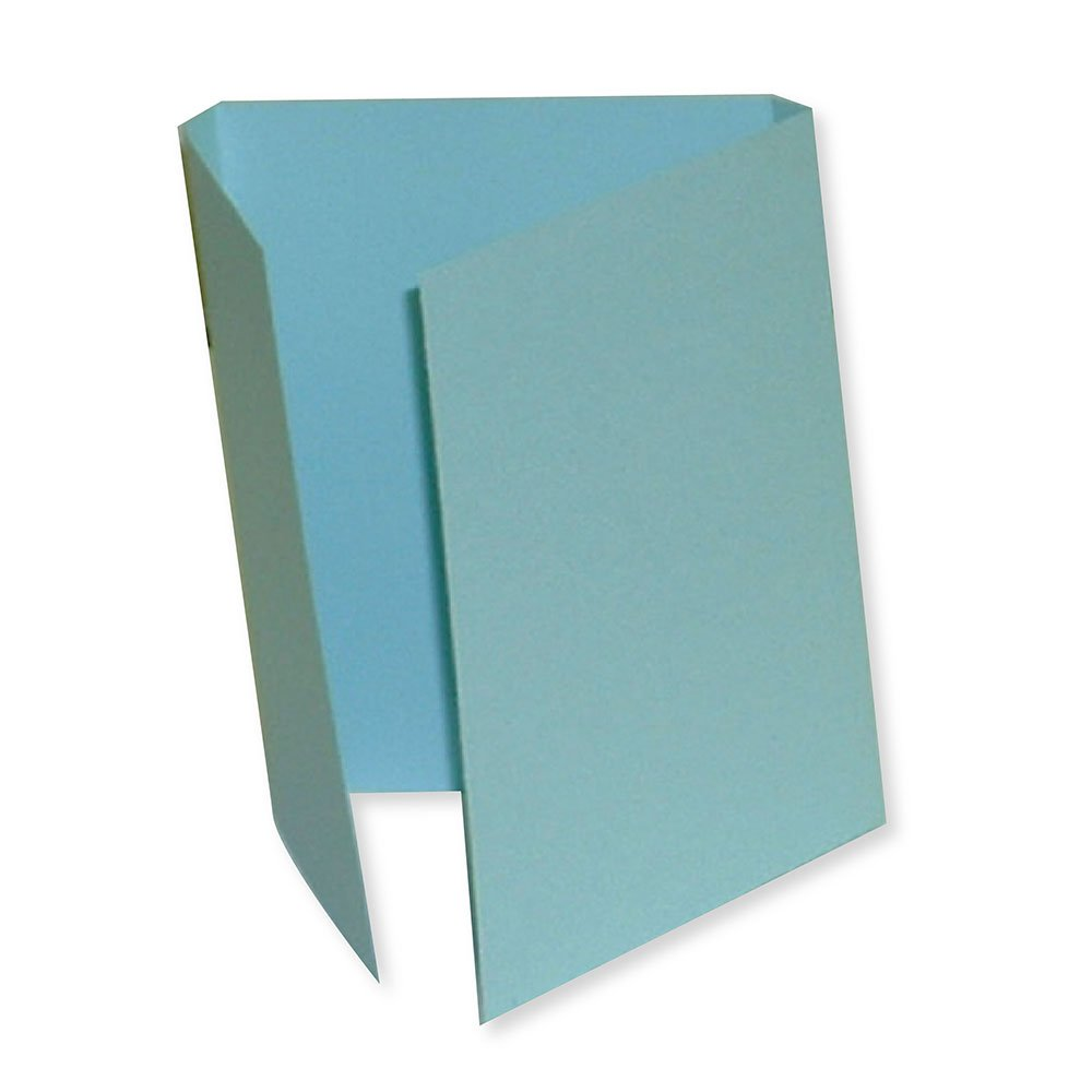 PDC Healthcare F3BB File Folder, Double Fold for Prescriptions Cardboard, 5-1/2'' x 13'', Blue (Pack of 100)