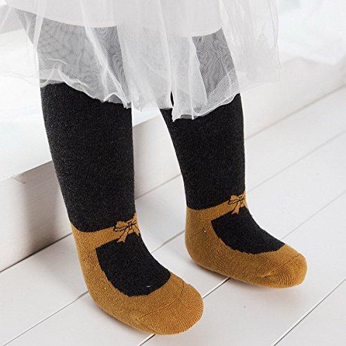 Collants Pour Enfants Mignon Hiver Ahatech Automne Foncé Anti glissement Chaussettes Gris Filles Xdq0Z