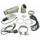 Evilenergy 3 Inch Exhaust Cutout Manual Switch Valve Motor Kit
