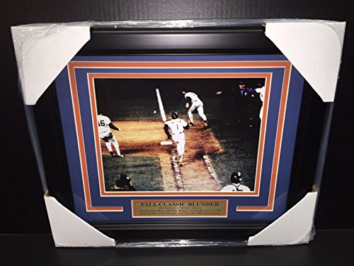 Mookie Wilson Bill Buckner 8x10 Photo 1986 World Series Framed NEW YORK METS