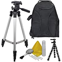 EXTREME FUN: Camera Accessory Kit for Canon EOS Rebel T6 (EOS 1300D) Bundle Includes: Back Pack - 50 Elite Tripod - Camera Cleaning & Maintenance Equipment - 8 BendiPod, Shop Smart!