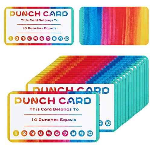 300 Pieces Punch Cards Incentive Reward Cards, Classroom Kids Rewards for Teachers Students Customer Supplies,Business Kids Behavior Students (Card My Rewards)