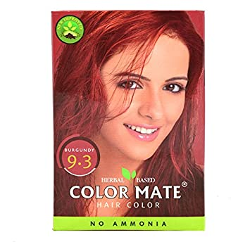 Buy Henna Exports Color Mate Hair Color (Burgundy - 9.3) (150G ...