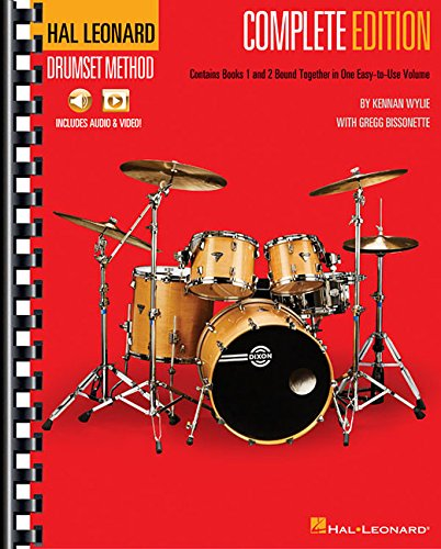 Hal Leonard Drumset Method - Complete Edition: Books 1 & 2 with online Video and Audio