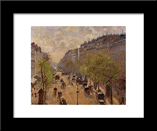 Boulevard Montmartre, Spring 20x24 Framed Art Print by Pissarro, Camille