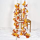DearHouse 2 Pack Fall Garland Maple Leaf,Hanging