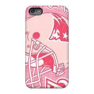 Shock Absorbent Hard Phone Covers For Apple Iphone 6s With Customized Vivid New England Patriots Pattern TrevorBahri