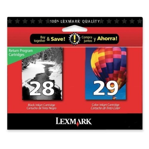Lexmark 18C1590 Combo Pack #28 + #29 - 2-pack - black, color (cyan, magenta, yellow) - original - ink cartridge LRP - for X2500, 2510, 2530, 2550, 5070, 5075, 5320, 5340, 5410, 5490, 5495; Z1300, 1310 Original Lexmark Cartridge