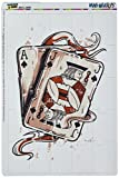 Graphics and More Ace Jack of Spades Deck Cards Poker Gambling Mag-Neato's Novelty Gift Locker Refrigerator Vinyl Puzzle Magnet Set