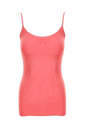 ca7a8521951fc Sugar Lips Figure Flattering Seamless Camisole - Coral at Amazon Women s  Clothing store