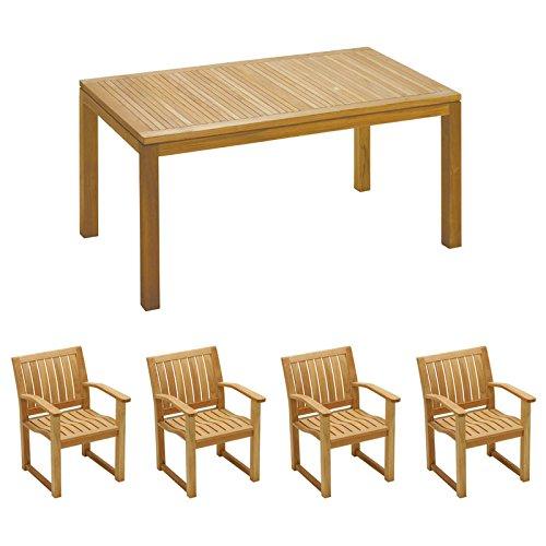 イスタナ ダイニングテーブル&チェア5点セット B07DZTLLZB