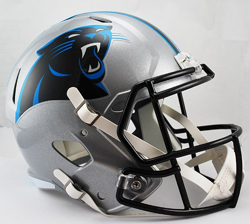 Carolina Replica Panthers Helmet Riddell (Carolina Panthers Riddell Full Size Speed Deluxe Replica Football Helmet - New in Riddell Box)