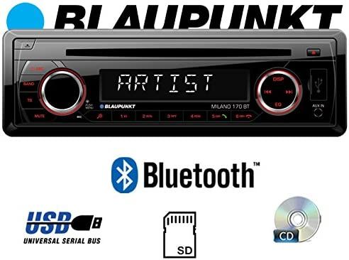 BLAUPUNKT Milano 170 BT USB Autoradio Radio Bluetooth MP3 JUST SOUND best choice for caraudio SD CD Einbauset f/ür FIAT Grande Punto 199