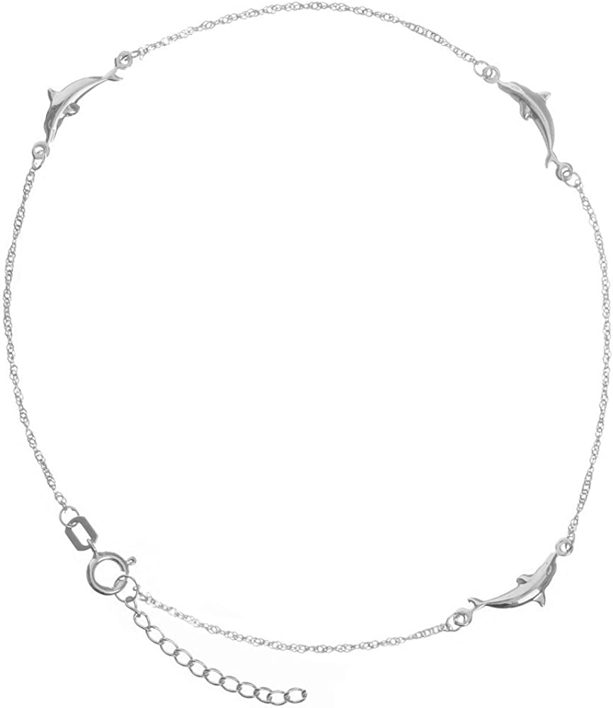 1.5mm 14K White Gold Sparkle Anklet 10inch Fine Jewelry Ideal Gifts For Women