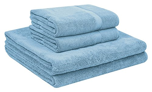 Royal Velvet Bath - Home and Plan Quick Dry Premium 100% Turkish Cotton Bath Sheets & Bath Mats | 4-Piece Set, 2 Oversized Bath Towels (30x60), 2 Bath Mats (20x34) - Aqua (S6)