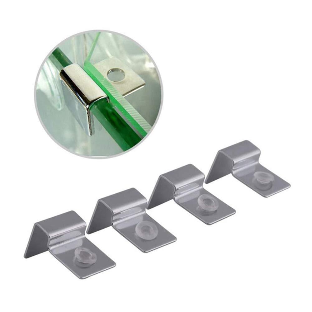 Titular de Tapa de Vidrio para Tanque de Peces Clips de Tapa Universal para Acuario 10mm POPETPOP 4 Unids Titulares de Acuario de Acero Inoxidable
