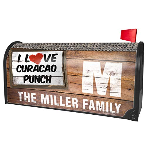 NEONBLOND Custom Mailbox Cover I Love Curacao Punch Cocktail -
