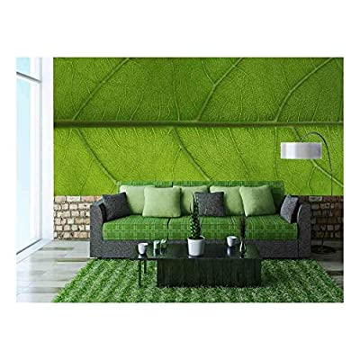 Lovely Creative Design, Made With Love, Green Leaf Background