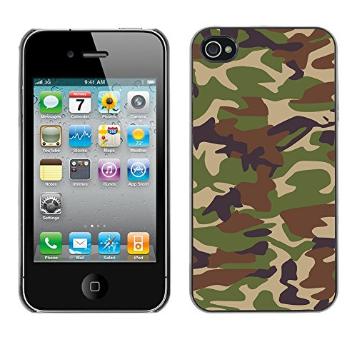 Premio Sottile Slim Cassa Custodia Case Cover Shell // V00002747 Camouflage // Apple iPhone 4 4S 4G