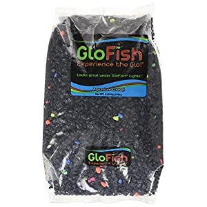 GloFish Aquarium Gravel, Black with Fluorescent Accents, 5-Pound 68