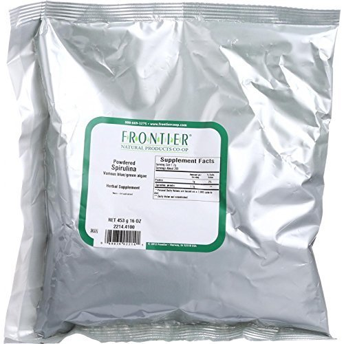 Frontier Bulk Spirulina Powder, 1 lb. package ( Multi-Pack)