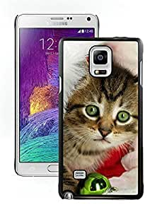 Provide Personalized Customized Christmas Cat Black Samsung Galaxy Note 4 Case 11