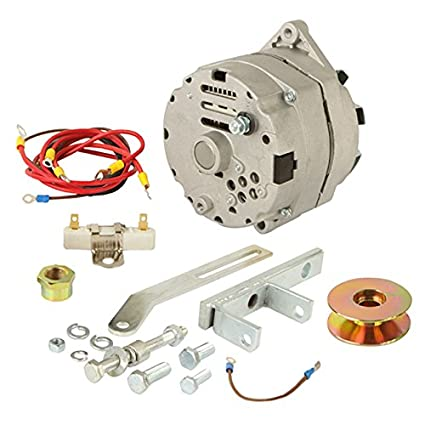NEW 12V 63 AMP ALTERNATOR CONVERSION KIT FITS