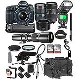 Canon EOS 5D Mark IV 24-105mm f/4 L is II USM + 50mm 1.8 STM + Tamron 70-300mm + 500mm Telephoto + 128GB Memory + Pro Battery Bundle + TTL SpeedLight + Pro Filters,(26pc Bundle)