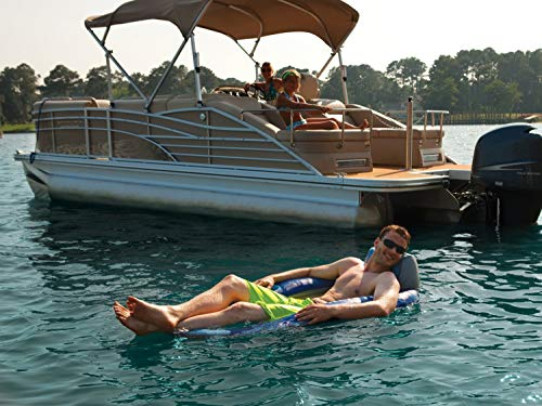 Kelsyus Floating Pool Lounger Inflatable Chair w/Cup Holder, Blue (6 Pack) by Kelsyus (Image #8)