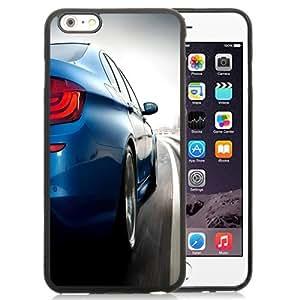 Fashionable Custom Designed iPhone 6 Plus 5.5 Inch Phone Case With Light Blue BMW M5_Black Phone Case
