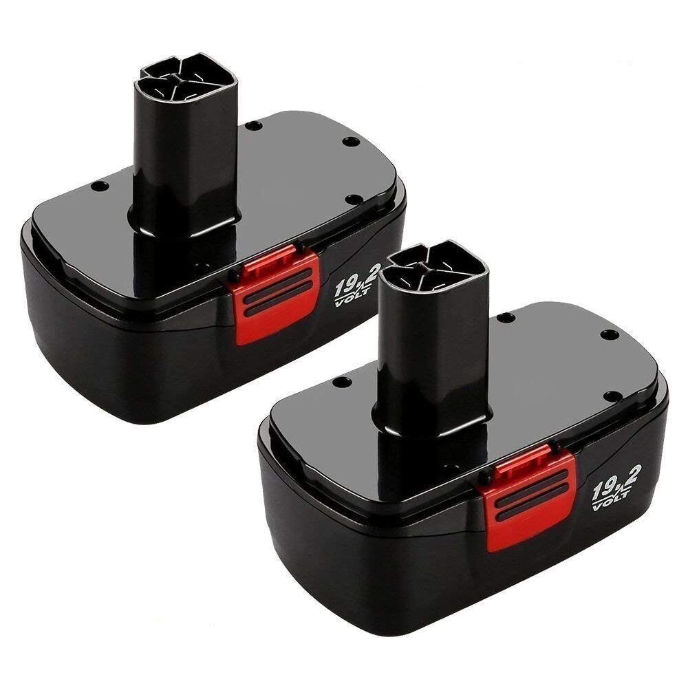 Munikind 2 Packs 19.2 Volt Replacement Battery for Craftsman DieHard C3 315.115410 315.11485 130279005 1323903 120235021 11375 11376 Cordless Drills by Munikind