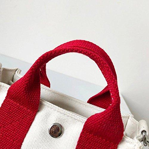 messager sac à JIANGfu de Sac Femme Main mode incliné Mode Cabas Rabat sac toile à Casual à main sac Sac Blanc bandoulière femmes main à Patchwork Femme qqxarwSz