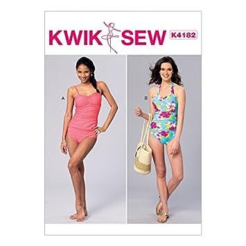 KwikSew Damen Schnittmuster 4182 Badeanzug & Tankini Bikini: Amazon ...