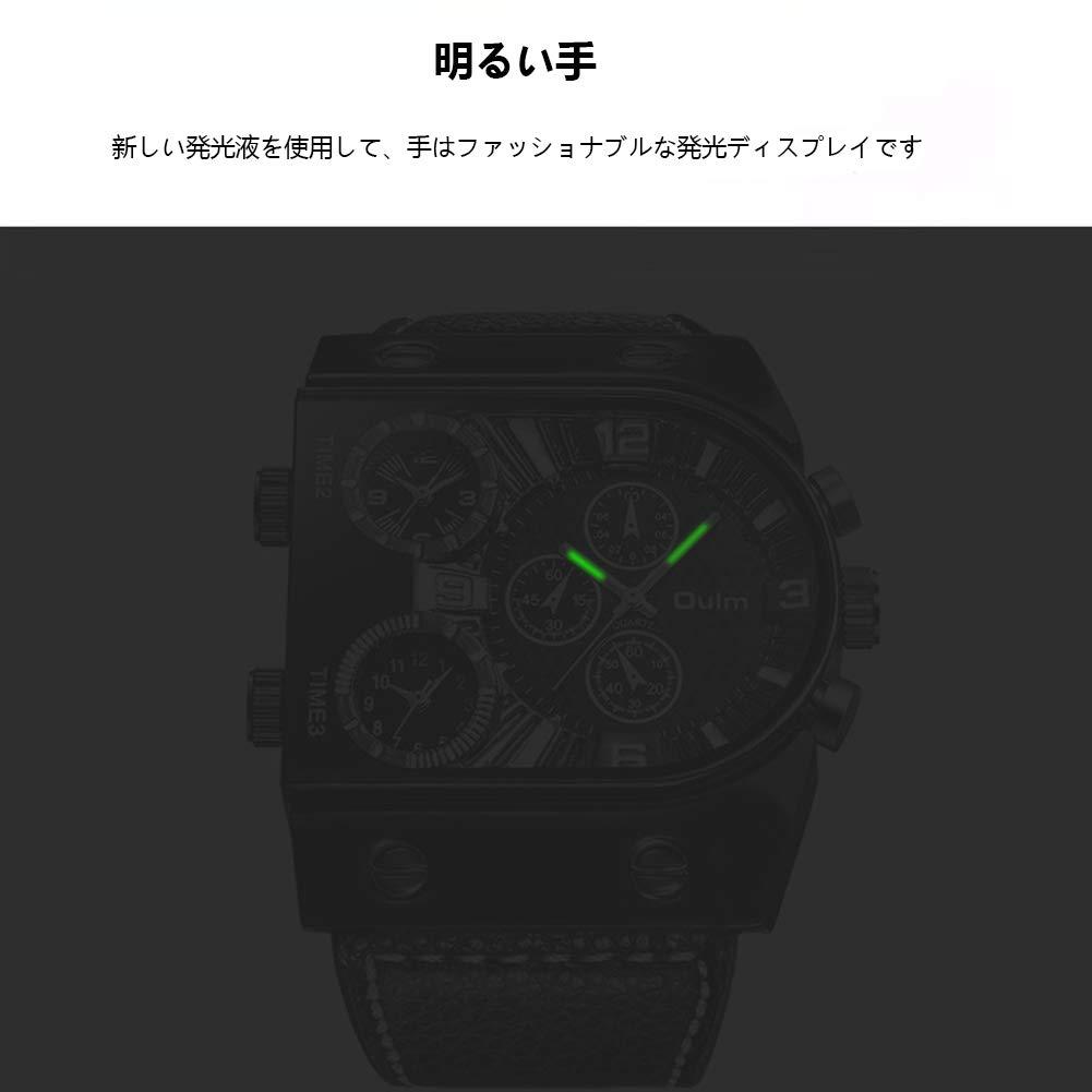 CETLFM kvartsklockor för män, modeklockor med flera tidszon, bärbar klocka för utomhusbruk med stora urtavlor, B c