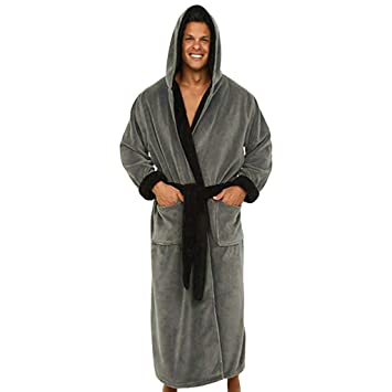 05933f1d84 Clearance Sale ! Mens Bathrobe Winter