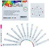 Image of ThatColor Fabric Markers Bundle with 12 dual tip, non toxic, Permanent Fabric Pens, Fabric Marker for Sewing, Iron On Transfer Sticker (White)