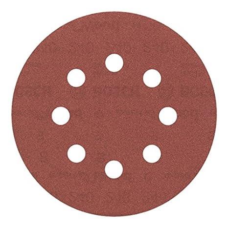 Bosch Professional  Schleifblatt f/ür Exzenterschleifer Holz und Farbe 5 St/ück, /Ø 125 mm, K/örnung 180, C430