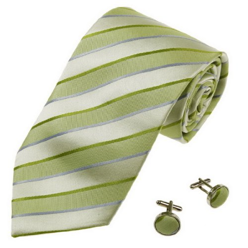 cid-023-12-green-mens-warehouse-tie-stripes-fashion-tie-set-cheap-2pt-by-yg