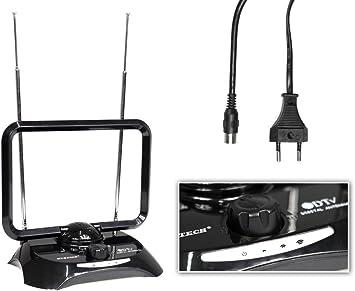 vetrineinrete® Antena TV amplificada para interiores con ...