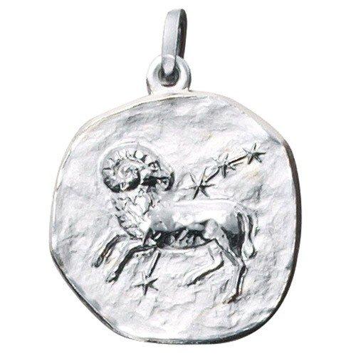 Signo del zodiaco Aries. Colgante de planta