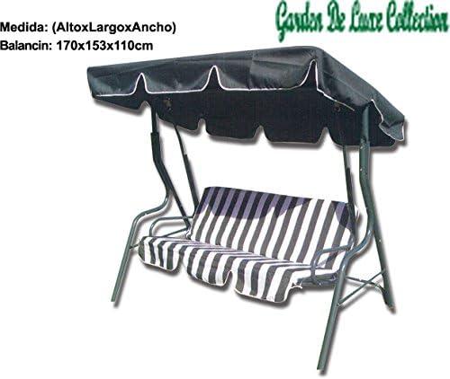 Garden Deluxe - Balancin Metalico para Jardin 3 Plazas: Amazon.es ...