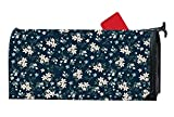 Vintange Pink Flowers Seasonal Customized Mailbox Cover Magnetic For Metal/Steel Mailboxes Mail Wrap Standard Vinyl 6.5 x 19 Inches
