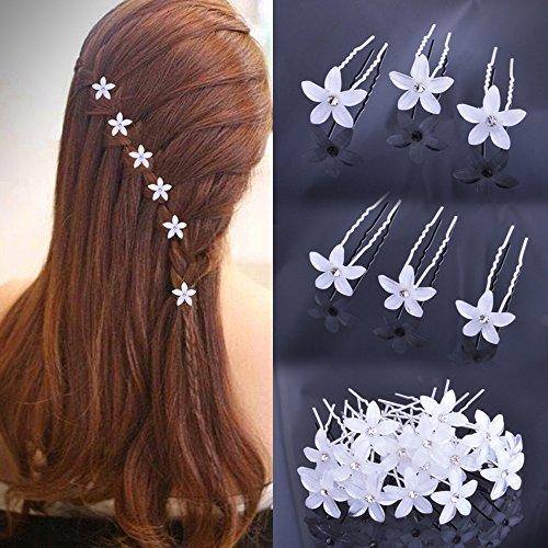 20 Pcs Accessori per acconciature sposa capelli di strass forcine per  donna 4e2cd6a23267