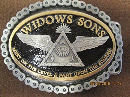 Widows Sons 2-Tone 24KT Gold Finish Freemason Masonic Biker ()