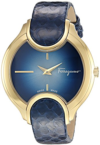 Salvatore-Ferragamo-Womens-Signature-Quartz-Stainless-Steel-and-Leather-Casual-Watch-ColorBlue-Model-FIZ120015