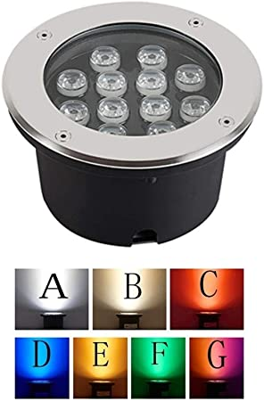 AMDHZ Foco Empotrable de Suelo LED LED Ground jardín Luces de ...