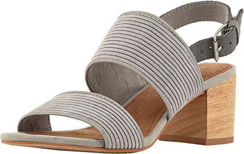 Toms Fit True To Size - TOMS Women's Poppy Polyester Sandal Cement