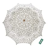 TopTie Lace Parasol Umbrella Wedding Party Decoration Bridal Costume Accessory WHITE-60PCS